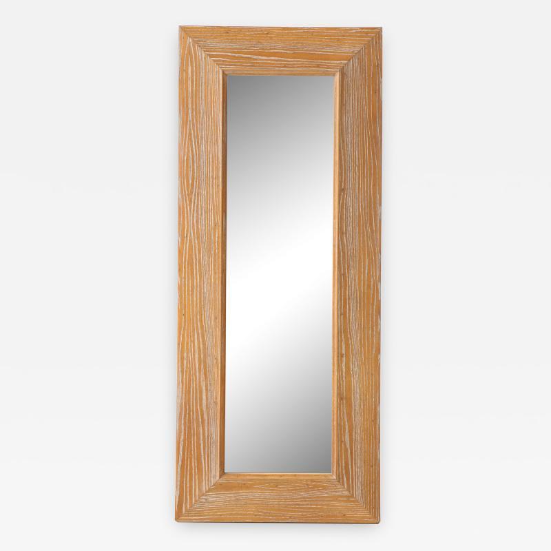 James Mont James Mont Cerused Oak Mirror