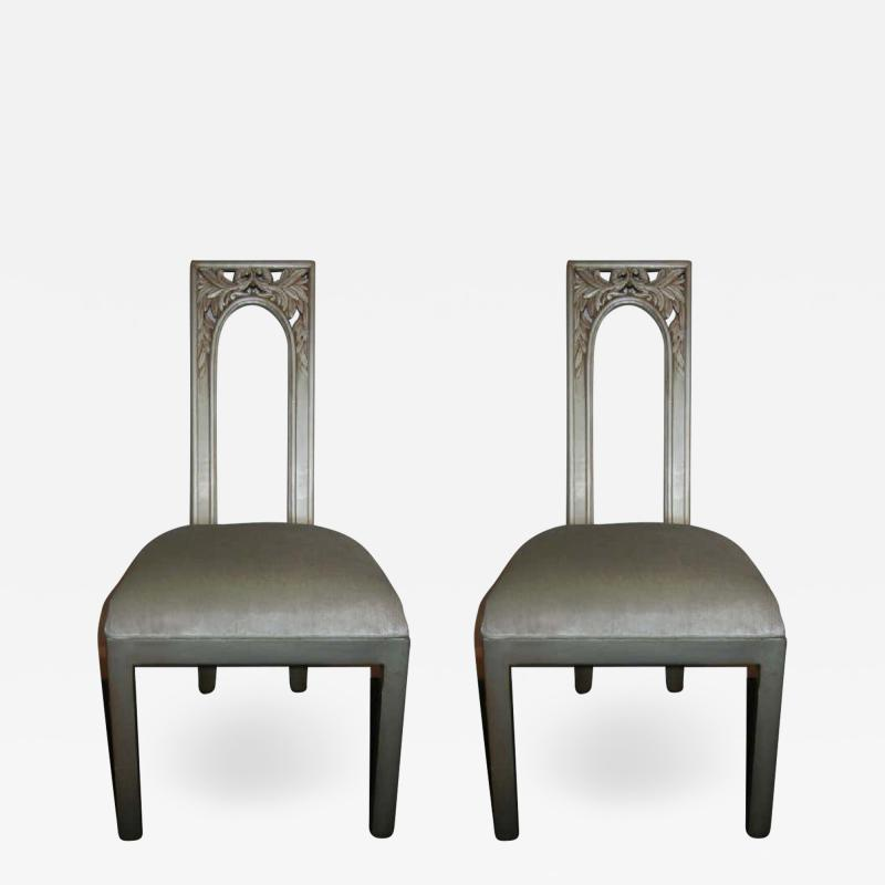 James Mont Pair of James Mont Chairs