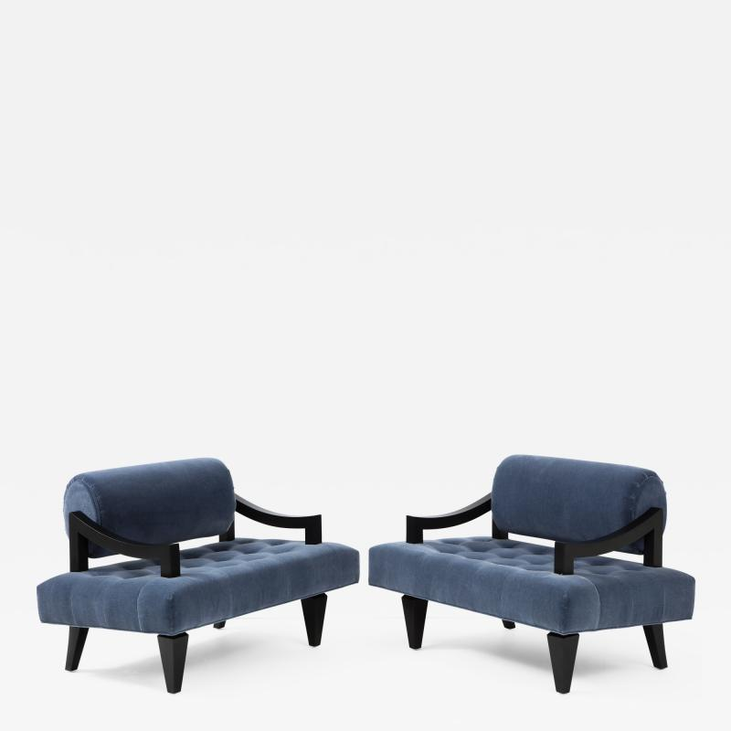 James Mont Rare Pair of James Mont Lounge Chairs