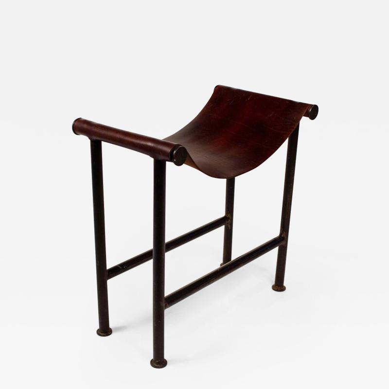Jan Barboglio Jan Barboglio Stool in Steel and Leather Texas Modernism
