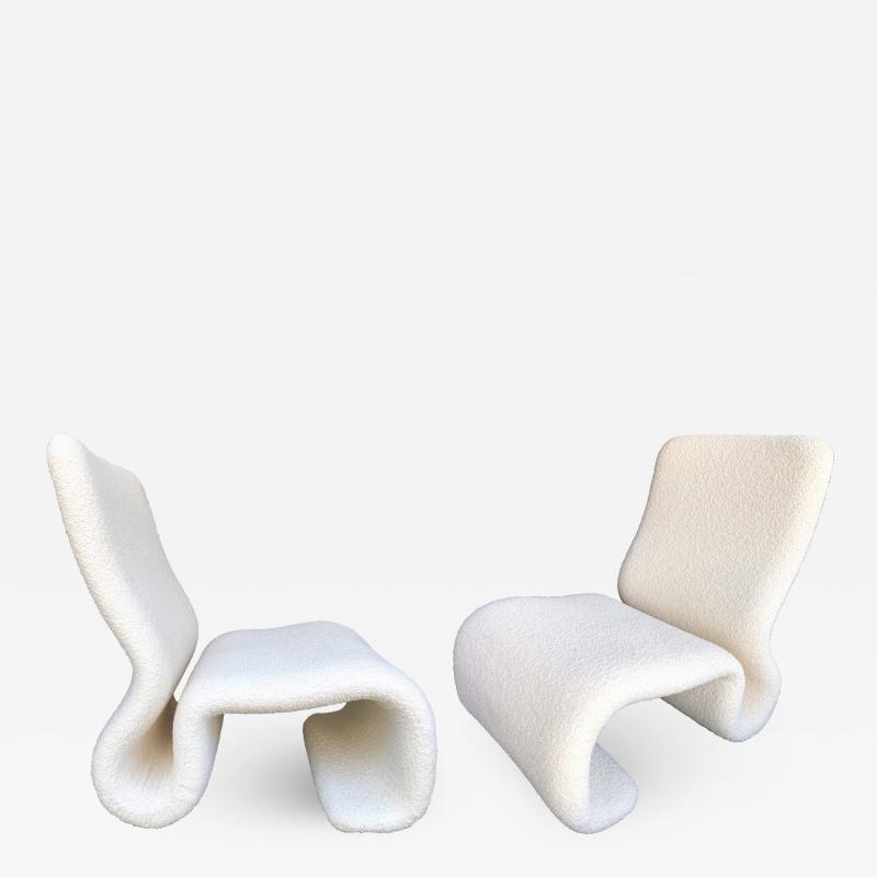 Jan Ekselius Pair of Ghost Armchairs by Jan Ekselius Sweden 1970s