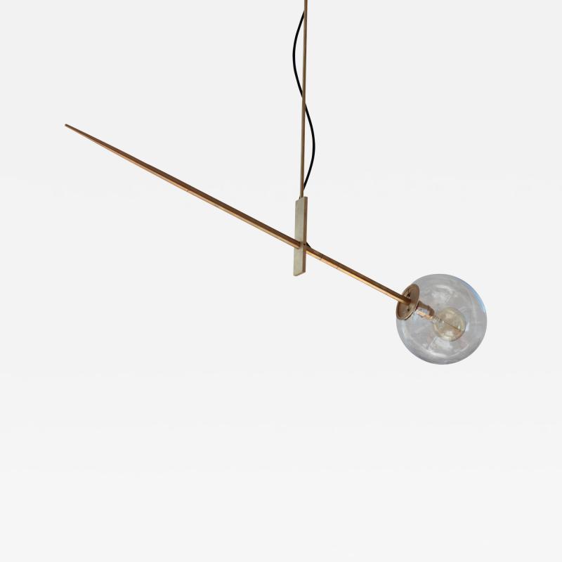Jan Garncarek Hasta Brass Hanging Lamp Jan Garncarek