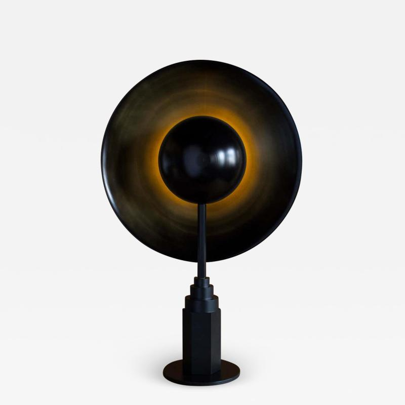 Jan Garncarek Metropolis Noir Brass Limited Edition Table Lamp by Jan Garncarek