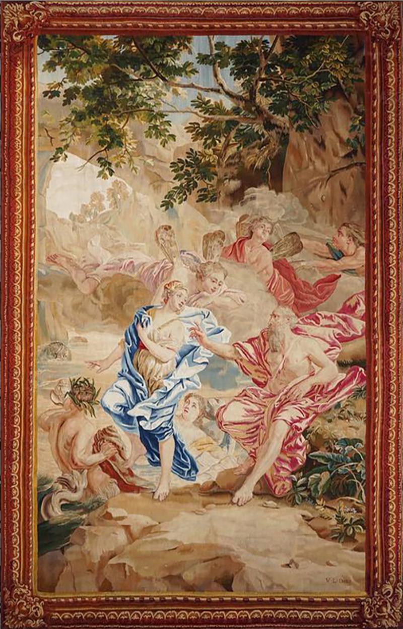 Jan Van Orley and Aurel Augustin Coppens 18th Century antique tapestry after de Jan Van Orley and Aurel Augustin Coppens