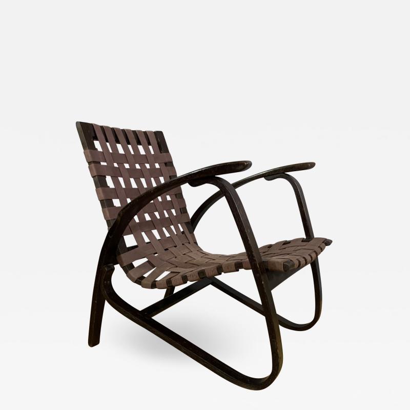 Jan Vanek Jan Van k Bentwood Beech Lounge Chair 1930s Czech