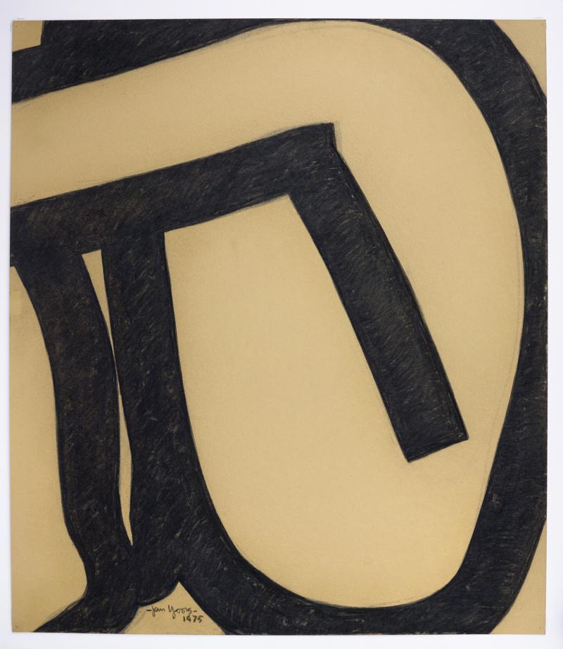 Jan Yoors Charcoal Drawing by Jan Yoors 1975
