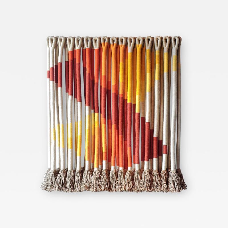 Jane Knight Oblique Ombre Textile Art Work by Fiber Artist Jane Knight 1970s
