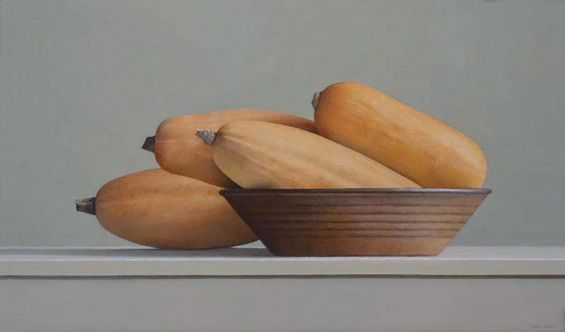 Janet Rickus Banana Squash and Brown Bowl