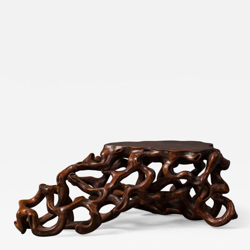 Japanese 19th Century Hand Carved Root Stand