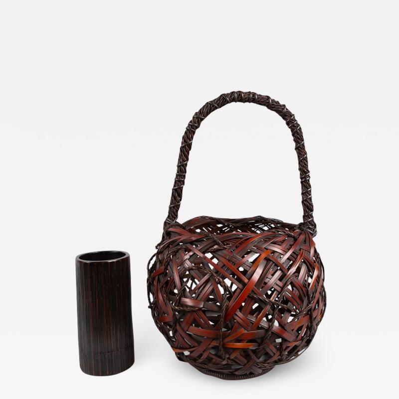 Japanese Antique Ikebana Flower Arranging Basket