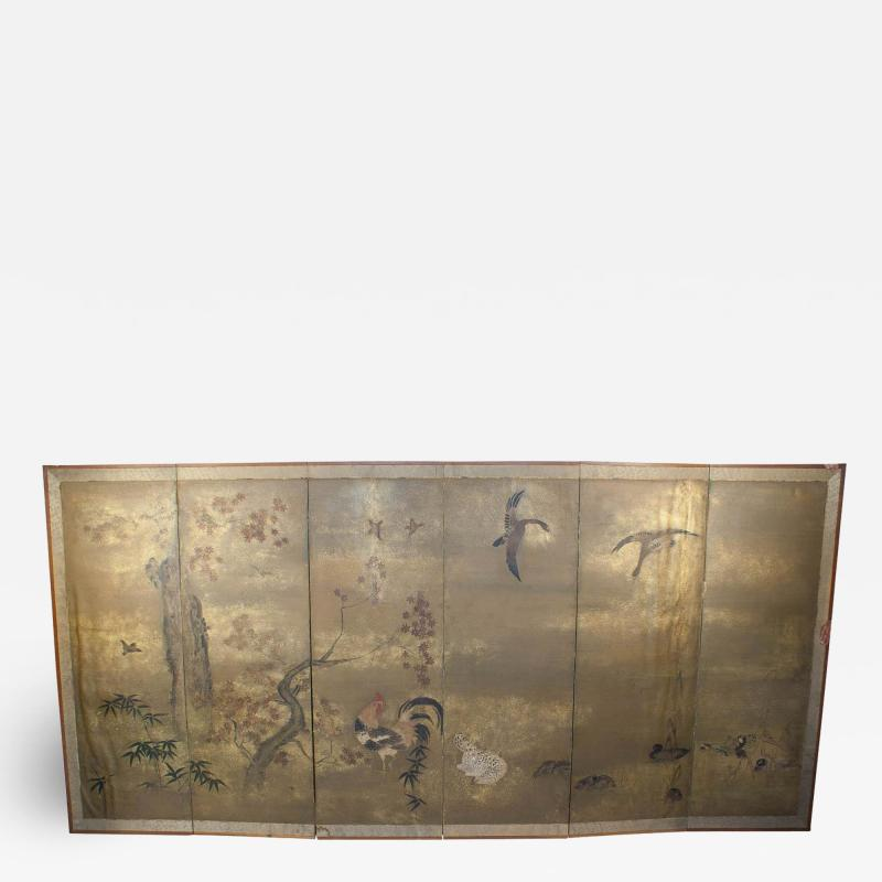 Japanese Screen Edo Period Circa 18th Century