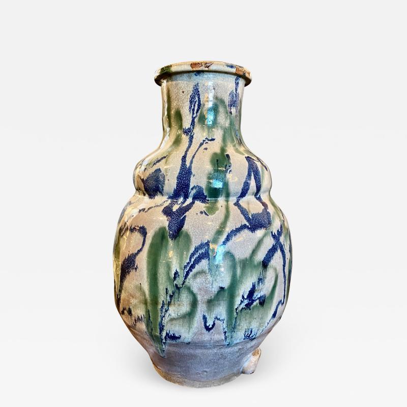 Japanese Shigaraki Water Storage Jar Meiji period