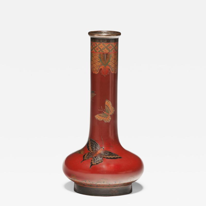 Japanese cloisonne enamel vase in the style of NamikawaYasuyuki