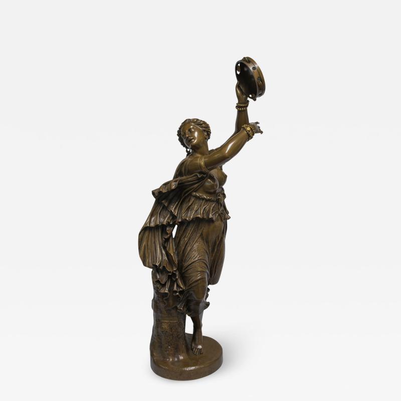 Jean Baptiste Clesinger A Finely Casted Patinated Bronze Sculpture of a Dancer Zingara