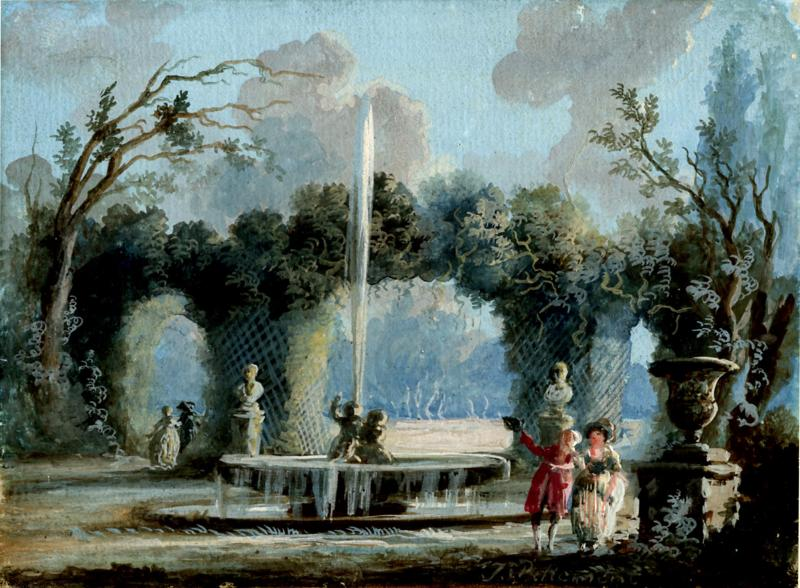 Jean Baptiste Pillement A Walk in the Park