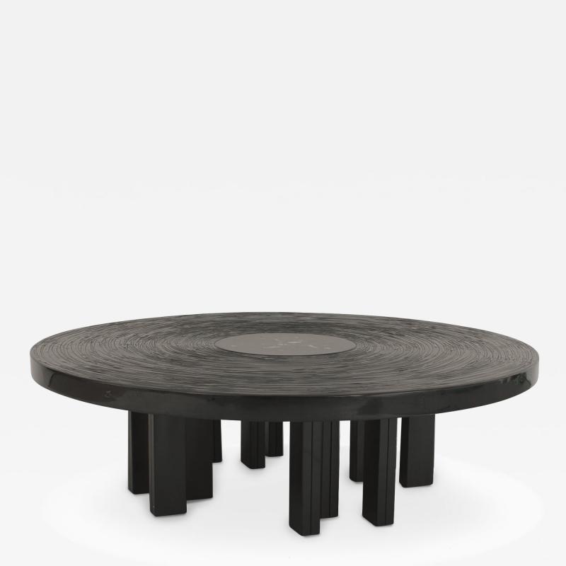 Jean Claude Dresse Belgian Post War Design Round Coffee Table
