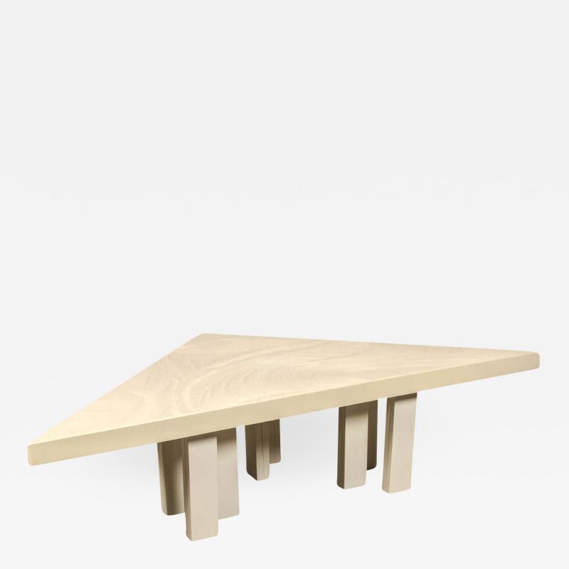 Jean Claude Dresse Modernist Triangular Coffee Table by Jean Claude Dresse