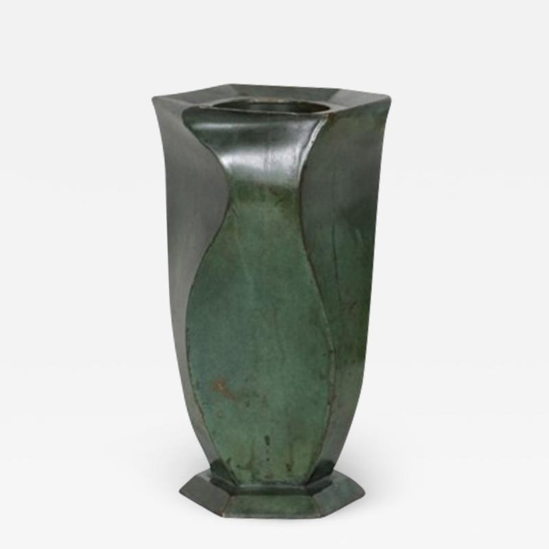Jean Dunand Bronze Vase by Jean Dunand 1920s