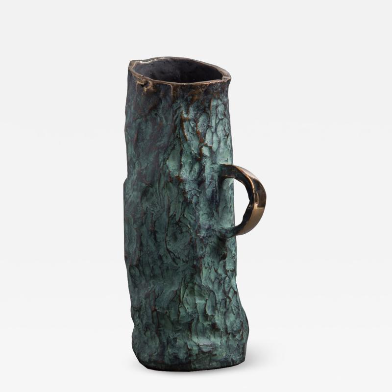 Jean Grisoni Jean Grisoni Bronze Aqua Vase