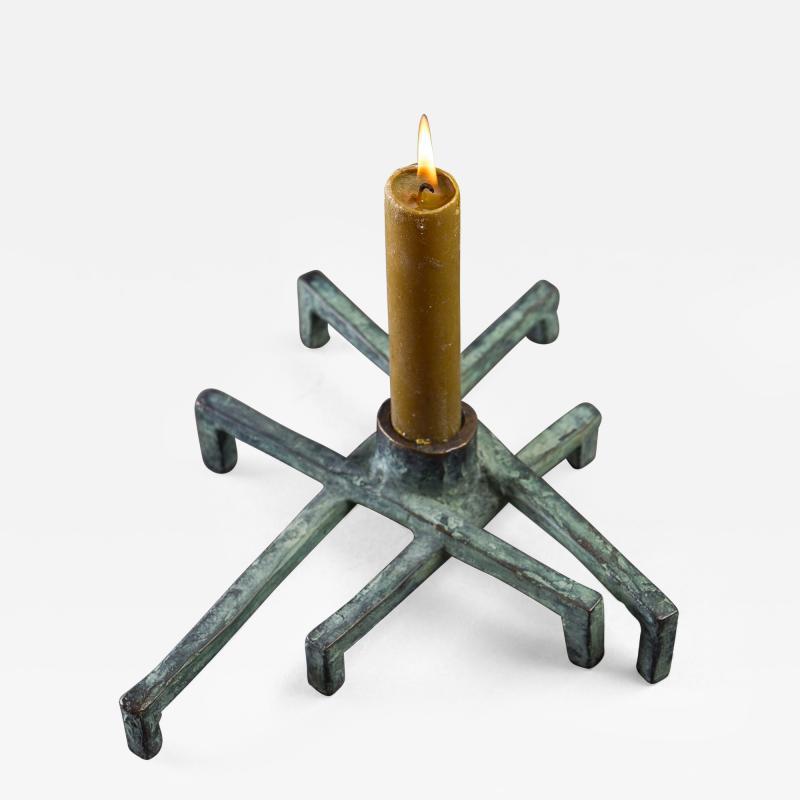 Jean Grisoni Jean Grisoni Eight Foot Bronze Santa Lucia Candle Holder