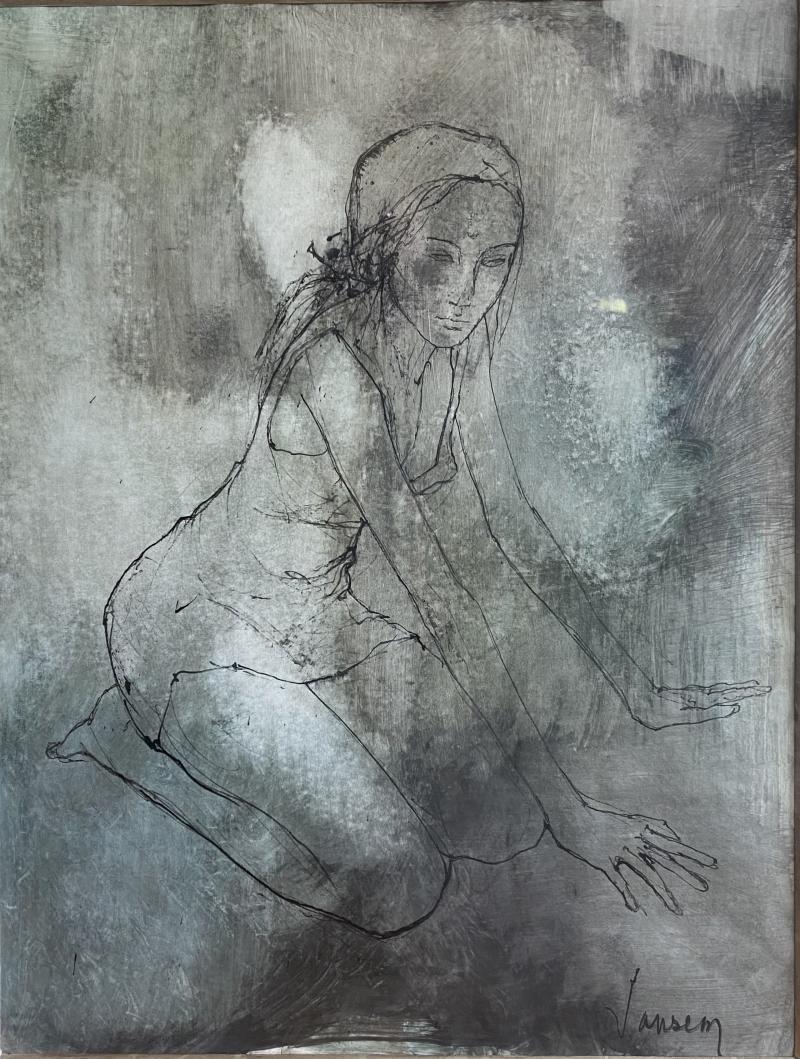 Jean Jansem Kneeling Girl