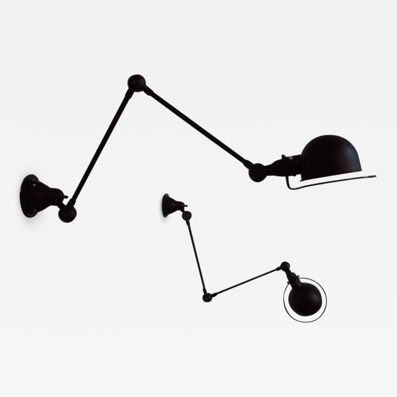 Jean Louis Domecq Pair of French Jielde Wall Lamp Sconces by Jean Louis Domecq 1953