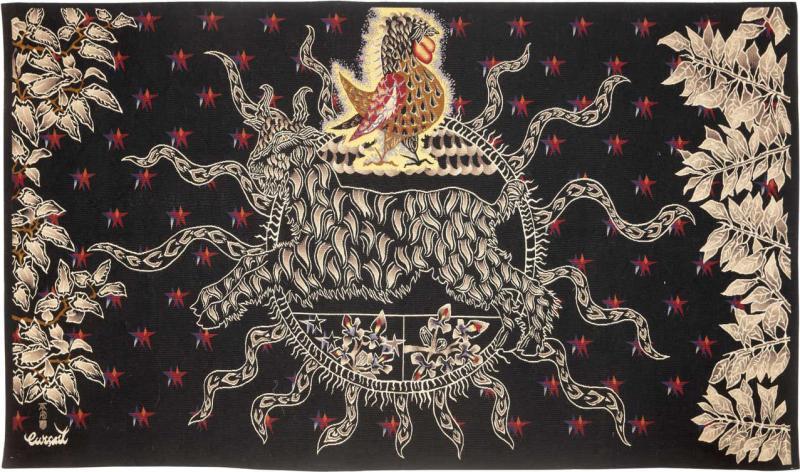 Jean Lurcat Amazing Tapestry by Jean Lur at Midnight Sun Soleil de Minuit wool France