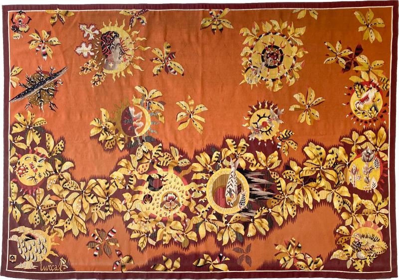 Jean Lurcat Jean Lur at Tapestry circa 1950 France