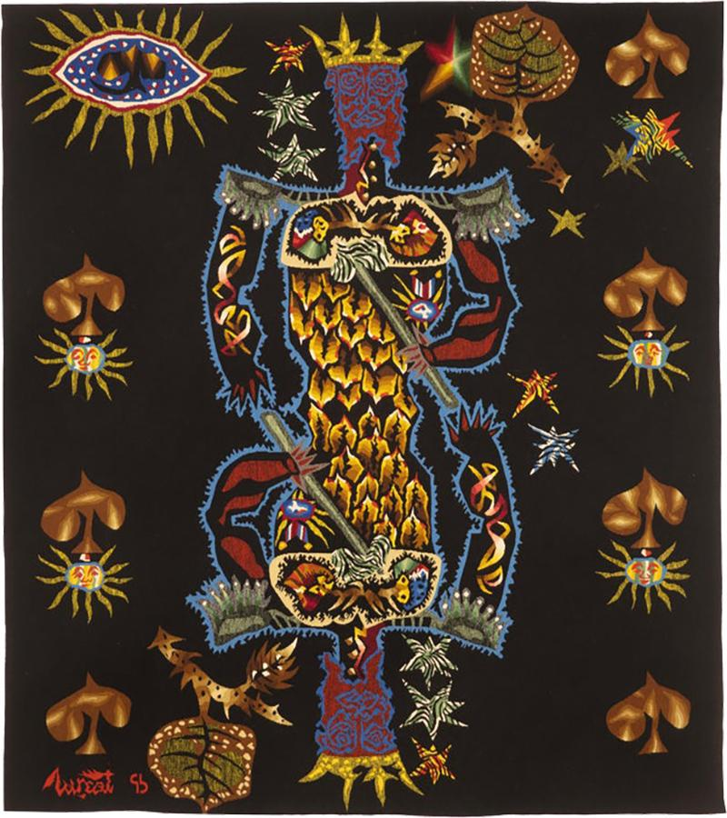 Jean Lurcat Tapestry by Jean Lur at King of Spades Perfect Condition