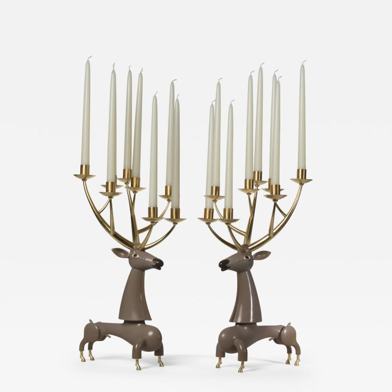 Jean Marie Fiori Deer Candelabra