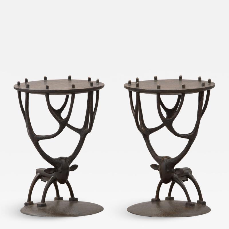 Jean Marie Fiori Deer Side Tables