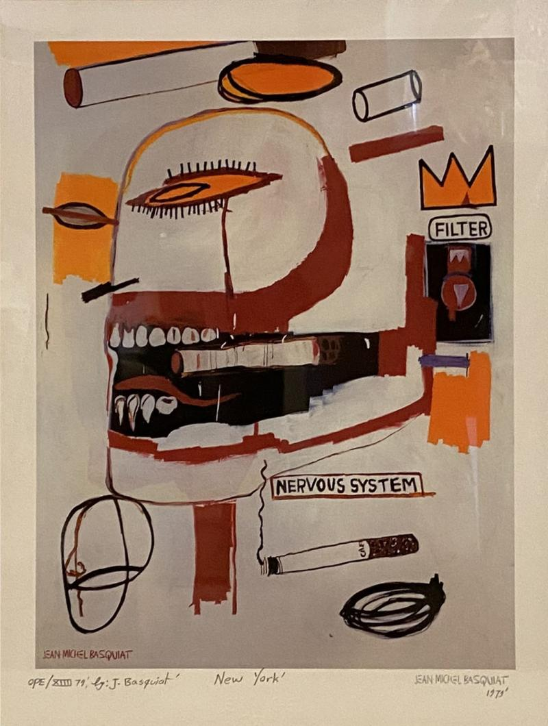 Jean Michel Basquiat Americn Abstract Expressionist Lithograph Untitled XVl Jean Michel Basquiat