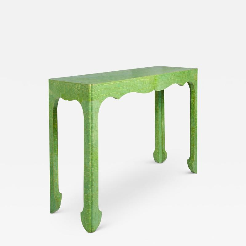 Jean Michel Frank Chinoiserie Console Wrapped in Faux Crocodile
