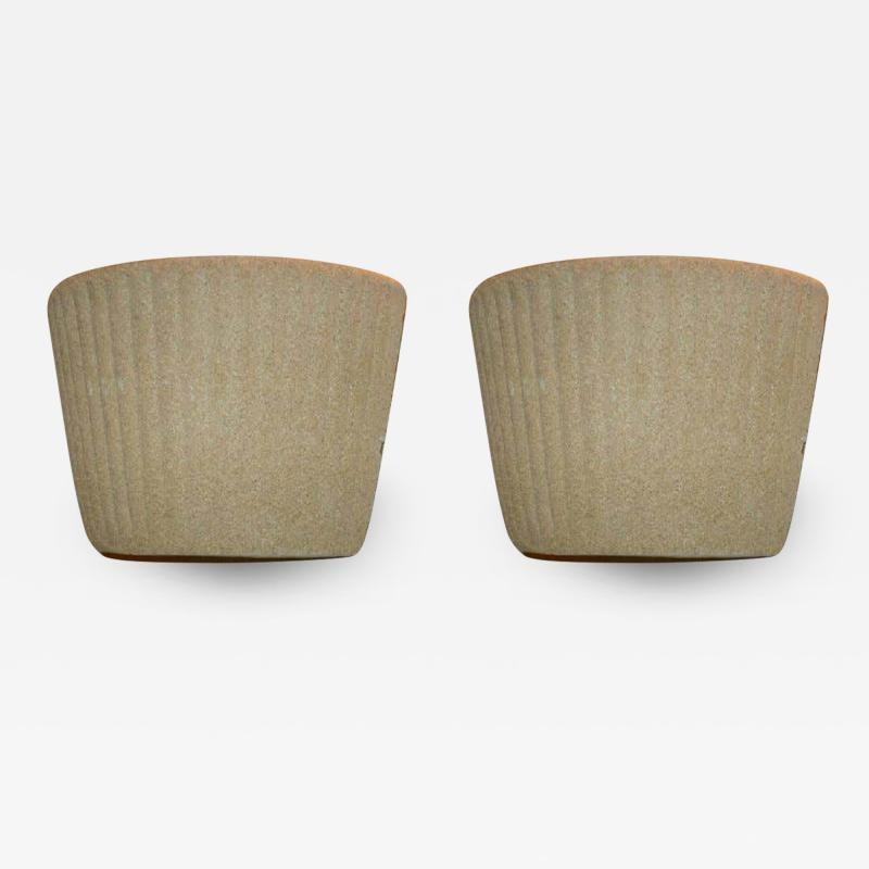 Jean Michel Frank Pair of French Mid Century Modern Cast Sand Sconces Style of Jean Michel Frank