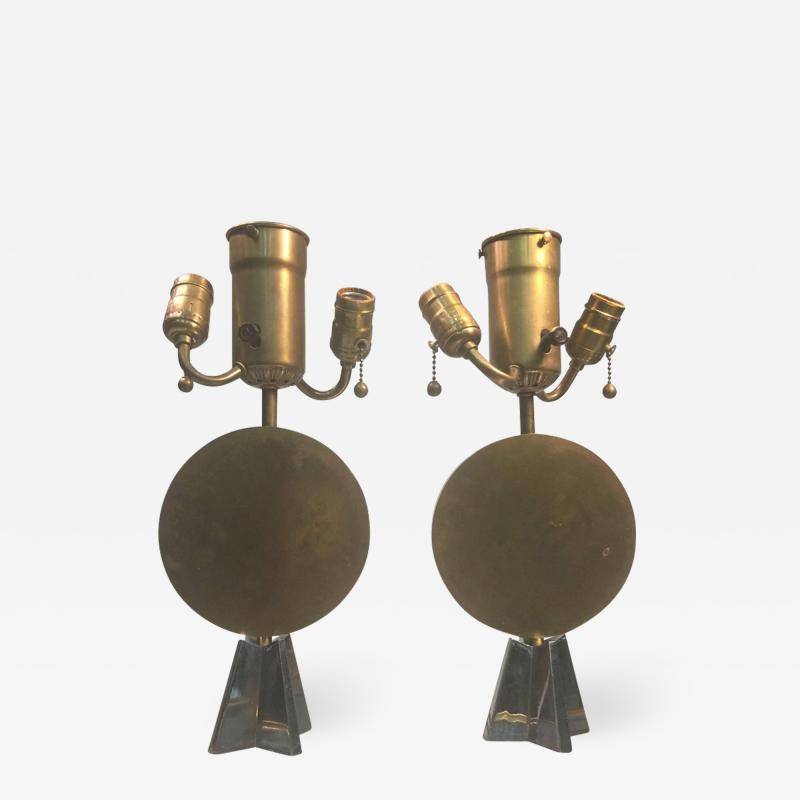 Jean Michel Frank RARE ART DECO DISC AND STAR LAMPS AFTER JEAN MICHEL FRANK
