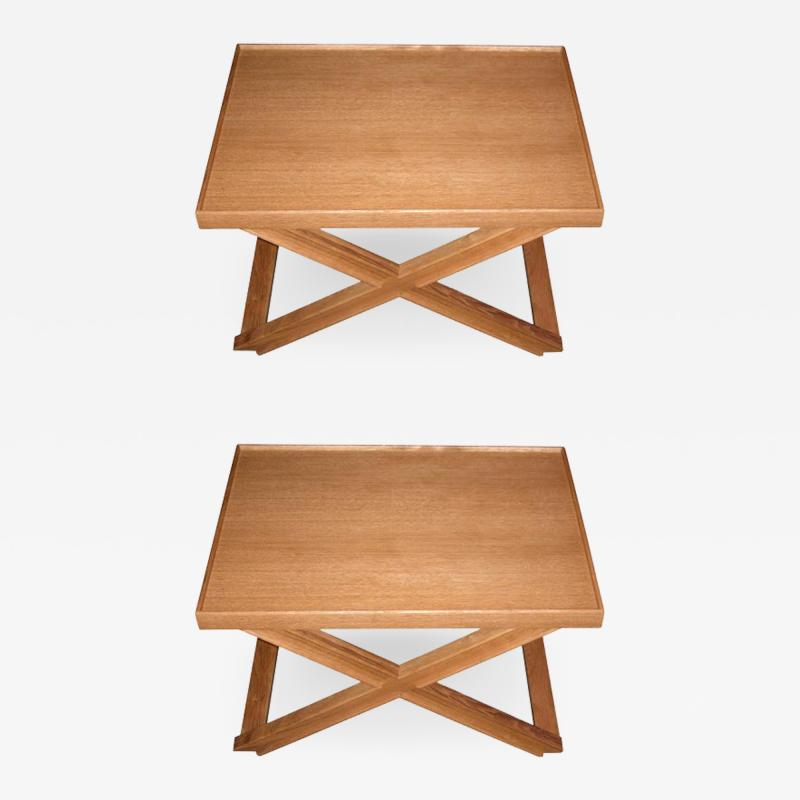Jean Michel Frank Two end tables designed by J M Frank and A Chanaux
