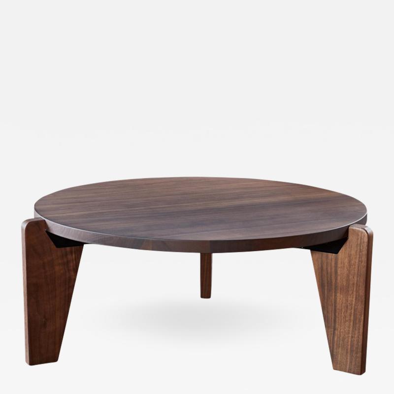 Jean Prouv Jean Prouv Gu ridon Bas Coffee Table in Walnut for Vitra
