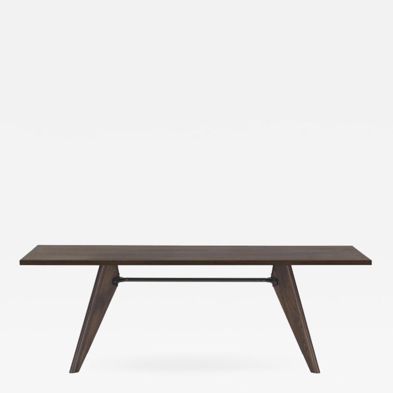 Jean Prouv Jean Prouv Table Solvay in Dark Smoked Oak for Vitra