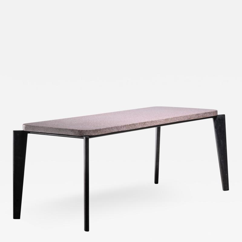 Jean Prouv Jean Prouve model 504 or Flavigny dining table with granito top