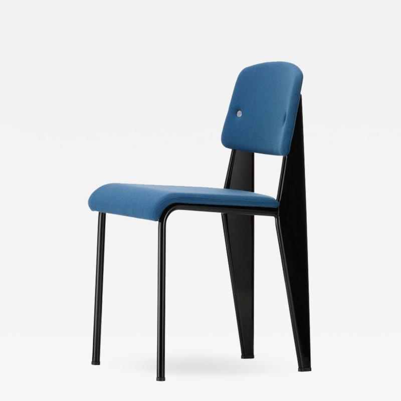 Jean Prouv Vitra Standard SR Chair in Indigo and Deep Black by Jean Prouv