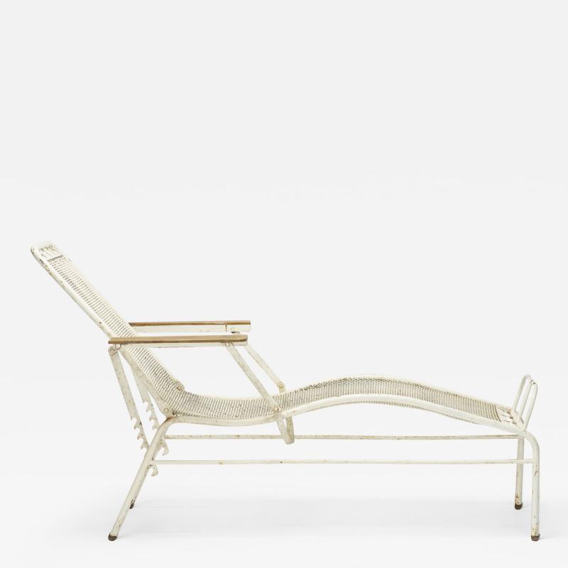 Jean Prouv chaise lounge from the Martel de Janville Sanatorium Plateau dAssy