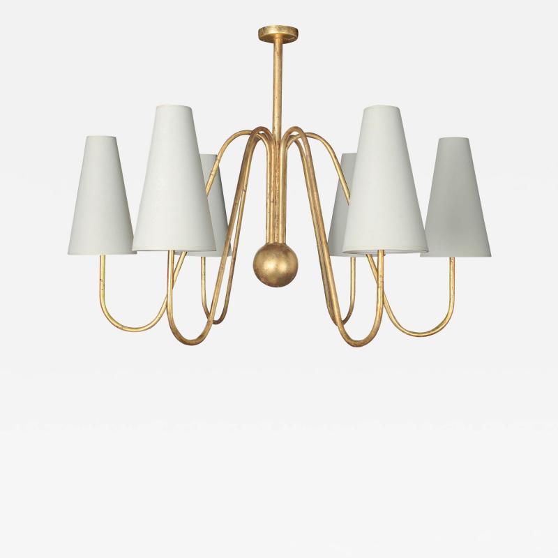 Jean Roy re BOUQUET chandelier 6 lights ball by Jean Roy re