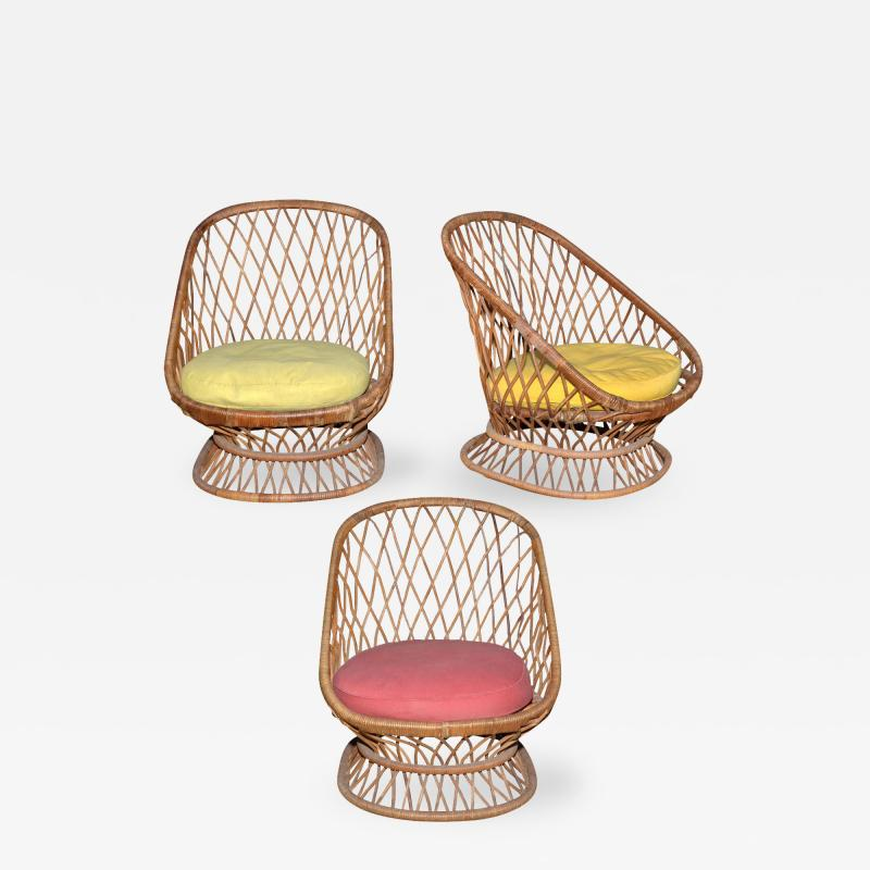 Jean Roy re Jean Roy re Documented Genuine Riviera Rattan Chairs from the 1950s