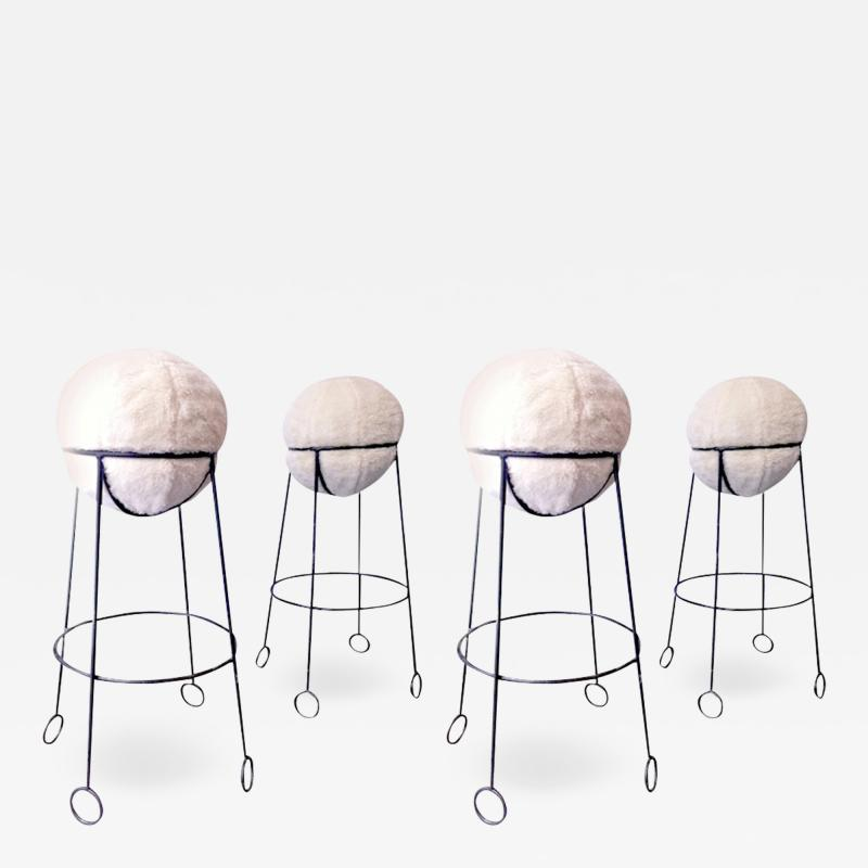 Jean Roy re Jean Roy re are documented set of 4 model yoyo bar stools