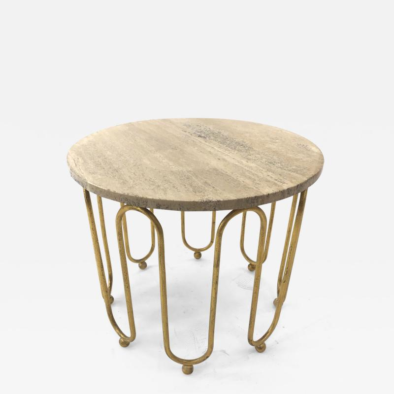 Jean Roy re Jean Royere attributed wave round coffee table