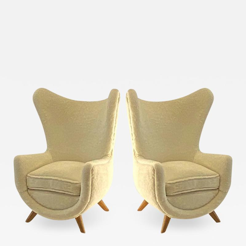 Jean Roy re Jean Royere documented genuine pair of model Elephanteau chairs