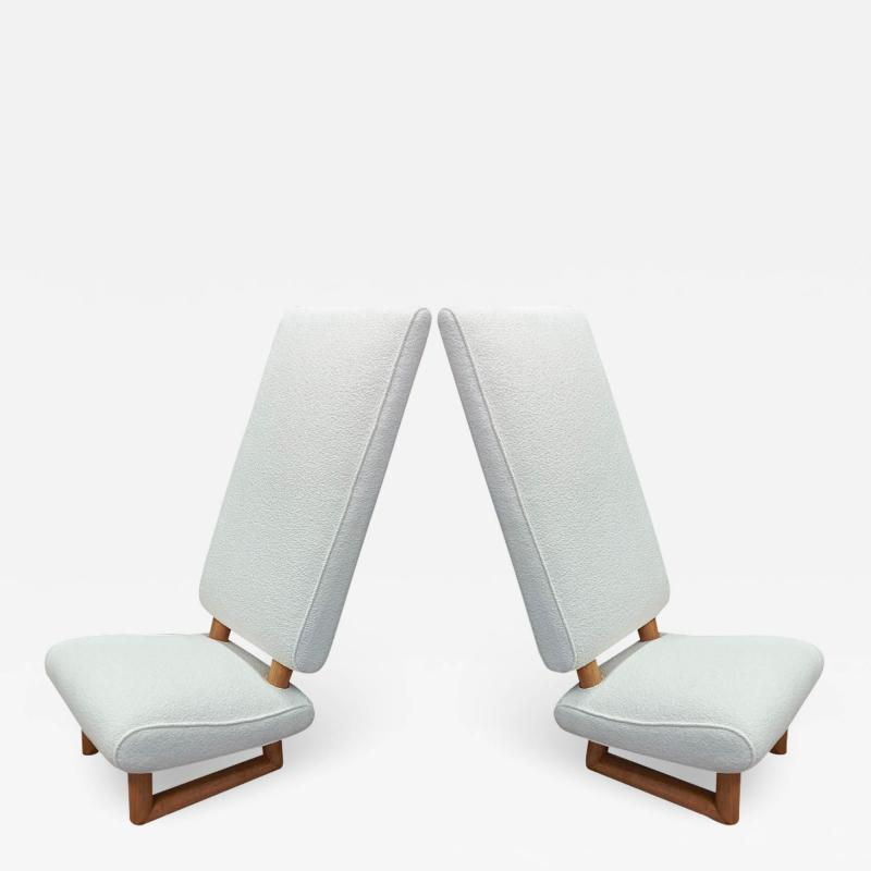 Jean Roy re Jean Royere exceptional rarest pair of genuine documented lounge chairs