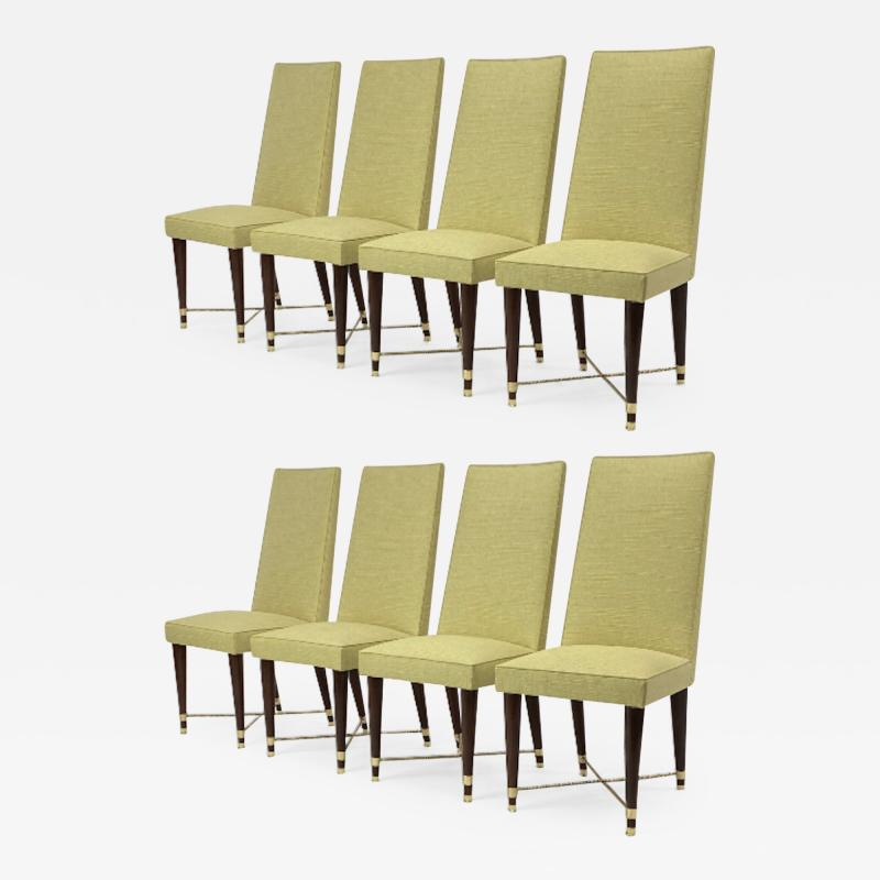 Jean Roy re Jean Royere genuine documented set of 8 dinning chairs