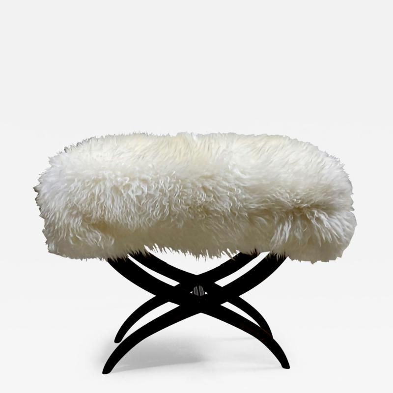 Jean Roy re Jean Royere iconic sheep fur stool