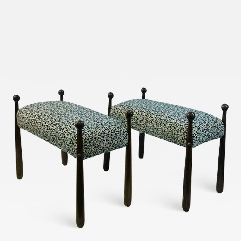 Jean Roy re MODERNIST PAIR OF BENCHES IN THE MANNER OF JEAN ROYERE